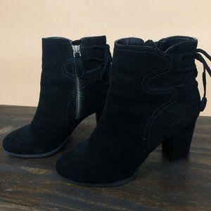 Vionic Ronnie Suede Lace Detail Booties 6.5